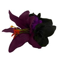 Fiftiesstore HM Corsage Lily Purple Black