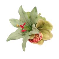 Fiftiesstore HM Corsage Pascale Lily Orchid Green