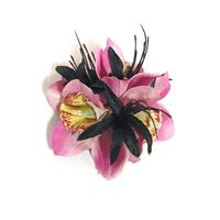 Fiftiesstore HM Corsage Juliette Three Orchids Pink
