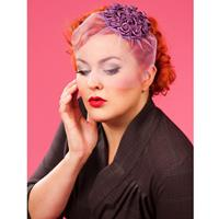 Fiftiesstore Frederica Day Fascinator, Purple