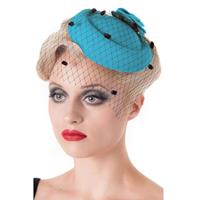 Fiftiesstore Marilyn Fascinator Aqua