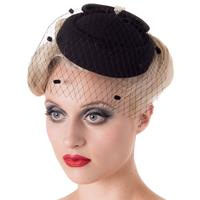 Fiftiesstore Judy Fascinator Black