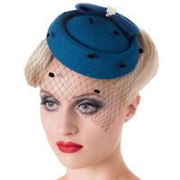 Fiftiesstore Judy Fascinator Teal