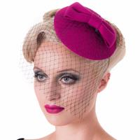 Fiftiesstore Candice Fascinator Magenta