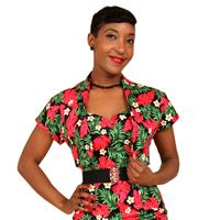 Fiftiesstore Red Palm Bolero