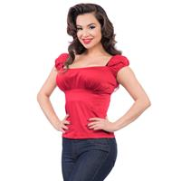 Fiftiesstore Bonnie Bumpkin Top Red