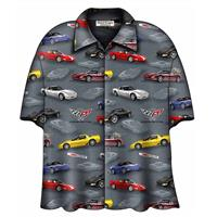 fiftiesstore Cars Shirt C5 Corvette Camp