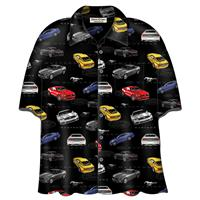 Fiftiesstore Cars Shirt Ford 2015 Mustang Camp Zwart
