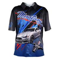 Fiftiesstore Cars Shirt Ford Mustang Pit