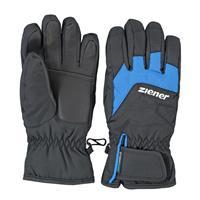 Ziener zwart met blauwe ski handschoenen Lizzard waterproof