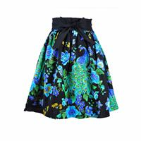 fiftiesstore Skirt Peacock Royal