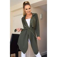 Exclusivepremium Annabelle Waterfall Jacket Khaki
