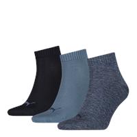 Quarter Sokken 3-Pack Denim Blue-35-38