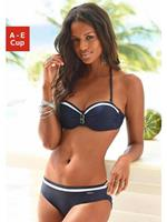 Lascana strapless beugel bikini met all over print lichtblauw