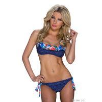Katia Halter-Bikini Donkerblauw / Blauw