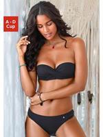 s.Oliver strapless bikini zwart