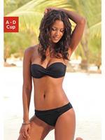 Lascana strapless beugel bikini zwart