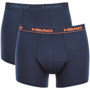 Head basic boxer 2-pack men peacoat orange-S