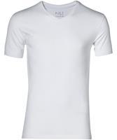 Nils T-shirt V-hals - Extra Lang - Wit