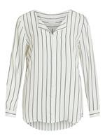 Vila High Low Split-neck Overhemd Dames White