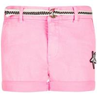 Retour Jeans Retour roze neon pink stretch denim short