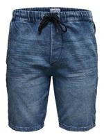 ONLY & SONS Denim Sweatshort Heren Blauw