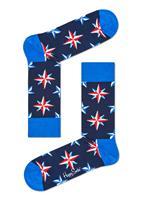 Happy Socks Nautical Star Sokken, Donkerblauw