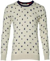 Scotch&Soda Scotch & Soda Pullover- Slim Fit - Beige