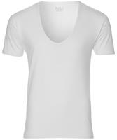 Nils T-shirt Extra Diep V-hals-extra Lang-wit