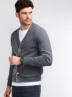 REPEAT cashmere Heren-vest met V-hals van cashmere