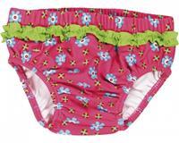 Playshoes zwemluier UV werend roze met bloemen meisjes 4/80