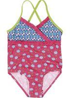 Playshoes Girls UV-Bescherming Badpak bloemen pink - Roze/lichtroze - - Meisjes