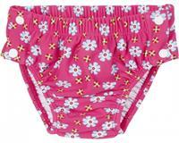 Playshoes zwemluier UV werend roze met bloemen 2/68
