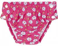Playshoes zwemluier UV werend roze met bloemen 4/80