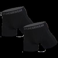Funderwear 2 pak heren boxer zwart