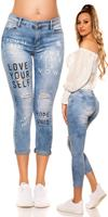Cosmodacollection Sexy PuSh Up Jeans in Used Look Jeansblue