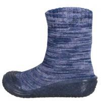 Playshoes Slipper gebreide kleding marine - Blauw - Jongen/Meisjes