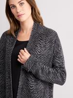 REPEAT Silver Edition Cashmere cardigan met zebraprint