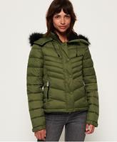 Superdry winterjas groen