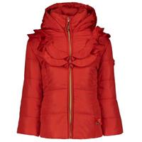 Le Chic Baby luxe winterjas ruffles - Rood