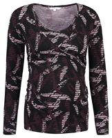 Noppies voedingslongsleeve Selin met all over print donkerrood