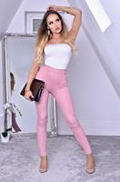 exclusivepremium Ayana Animal Print Trousers Dusty Pink