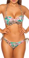 cosmodacollection Sexy PushUp Bikini w. wire and removable straps Green