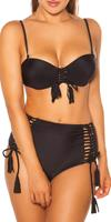 cosmodacollection Sexy PushUp Bikini with wire & removable straps Black
