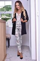 exclusivepremium Erika Wet Look Longline Jacket Black