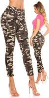 cosmodacollection Sexy camouflage jeans with butterfly print Army