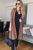 exclusivepremium Natalie Dip Hem Duster Coat Brown