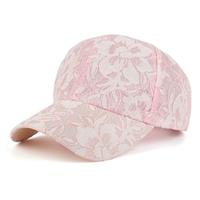 lookinggoodtoday Baseball Cap Flower Pink