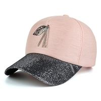 lookinggoodtoday Baseball Cap Leaf Roze