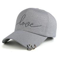 lookinggoodtoday Baseball Cap Love Grey